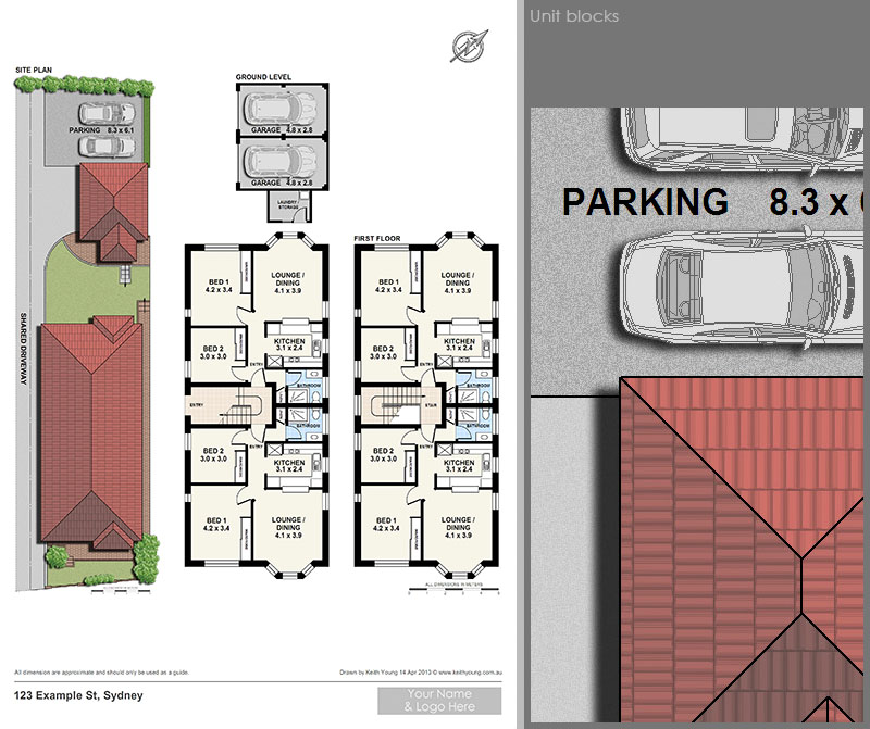 unit block floor plans