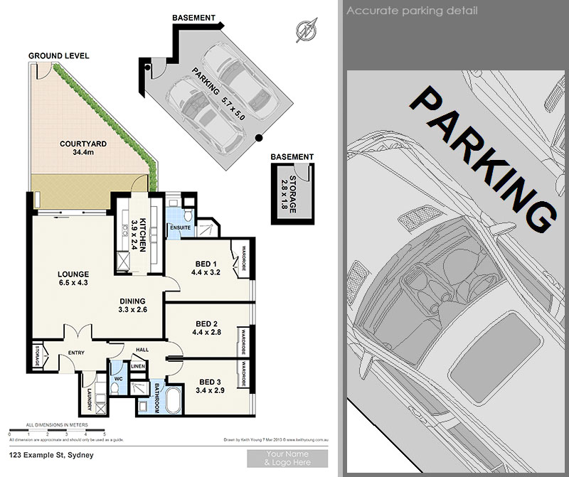 accurate parking plans